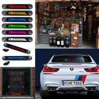 12V Car Remote Programmable Rolling LED Advertising Message Display Taxi Red Car Rear Window Moving Sign