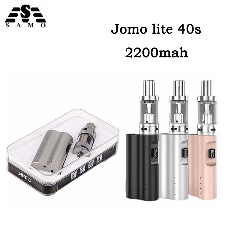 Original Jomo New Lite 40s TPD Electronic Cigarette Vaporizer Box Mod 2200mah battery 3ml Tank 0.5ohm vape pen E-Cigarette kit