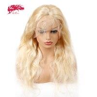 Али queen hair продукты 613 Синтетические волосы на кружеве парики человеческих волос Синтетические волосы на кружеве al парики Реми блондинка те