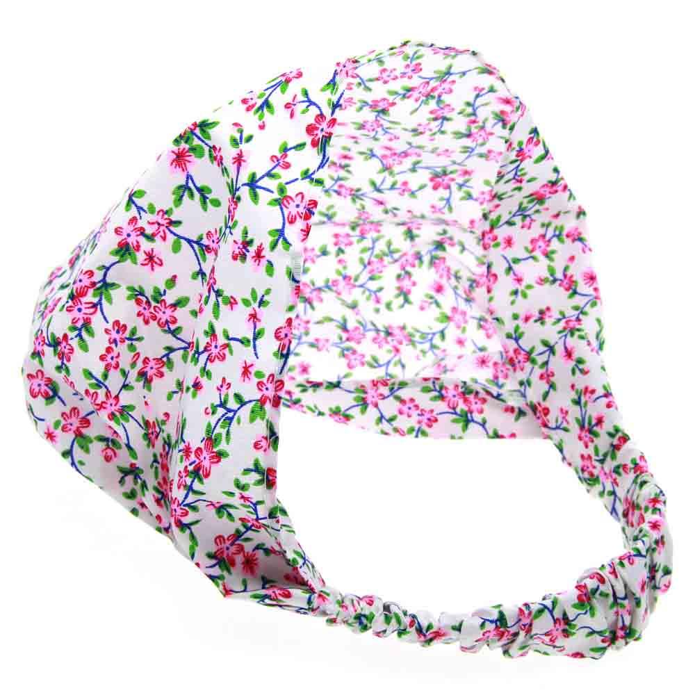 ✓Al por menor impresión turbante diadema para niños niñas elástico ...