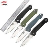 Ganzo Firebird FB7651 440C Blade G10 Carbon Fiber Folding Knife Outdoor Hunting Survival Tactical Utility EDC Pocket Tool Knife