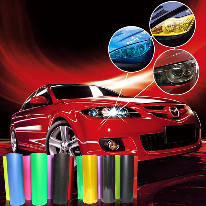 120*30cm Car light headlight film pervious to light film fit for Renault duster megane 2 logan renault clio car styling