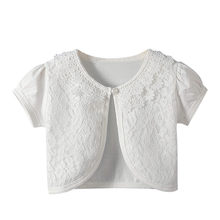 192368f5e4 (Ship from US) MUQGEW kid clothes 2019 Toddler Kids baby girl clothes  Little Girls Lace Princess Bolero Cardigan Shrug Tops Clothes #y2