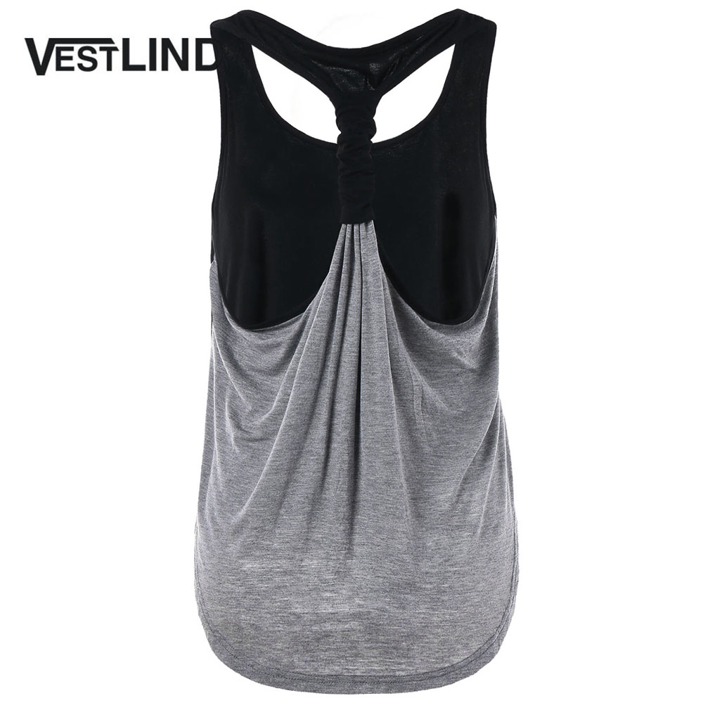 VESTLINDA Scoop Neckline Racerback   Tank     Top   Ladies Clothing Summer Women Casual Sleeveless   Tops   Tees 2018 New Women   Tanks