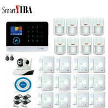 SmartYIBA Russian Spanish English German French Wireless APP Remote Control LCD Touch Screen Home Security WIFI GSM Alarm System
