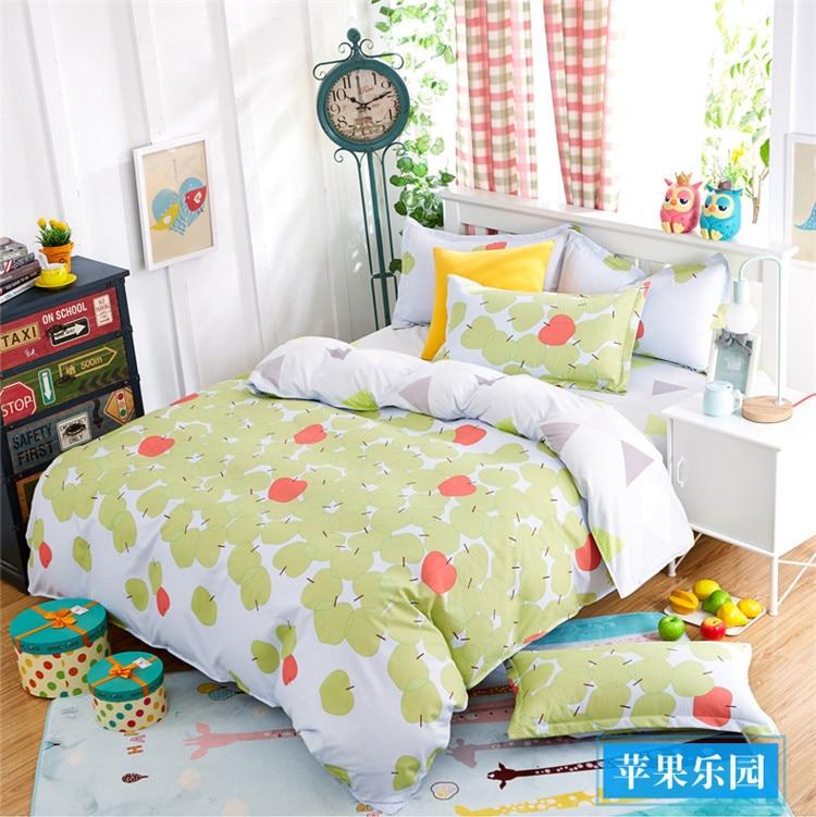 Apple Paradise 3/4 pcs bedding set twin full queen size quilt/duvet/