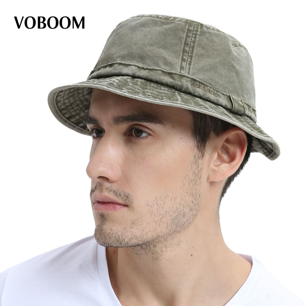 0faa5d887fdae VOBOOM Cotton UV Protection Bucket Hat For Men Summer Boonie Hunting Fishing  Fisherman Hats Travel Japanese
