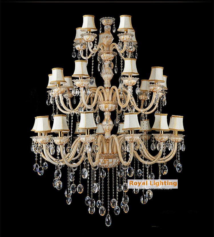 Roman Large painting Crystal Chandelier Led lamps star hotel 30 pcs - Indoor Lighting - Photo 2