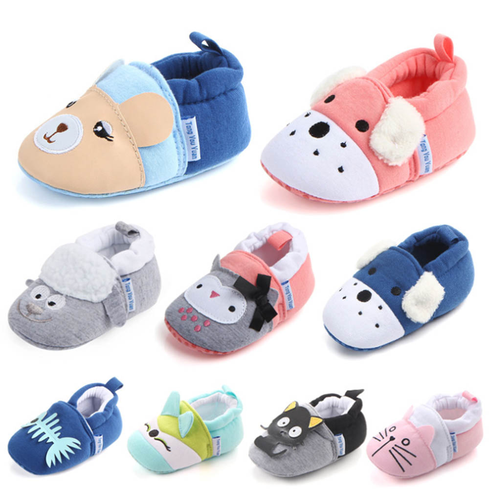 3 Pairs/Lot Spring Autumn Winter Baby Shoes Girls Boy First Walkers Slippers Newborn Baby Girl Crib Shoes Footwear Booties 0-18M