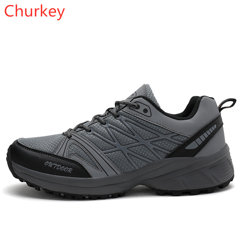 Men Sports Shoes Men Casual Shoes Men Outdoor Hiking Walking Shoes Men Breathable Non-slip Wear Running Shoes 39-45(China)
