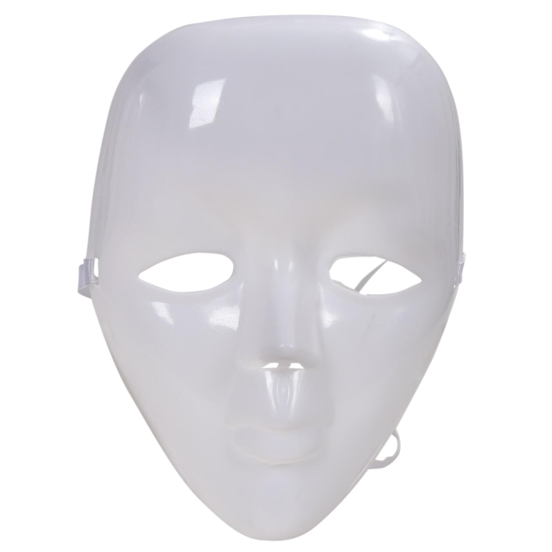 Plastic Blank White Full Face Female Mask For Costume
