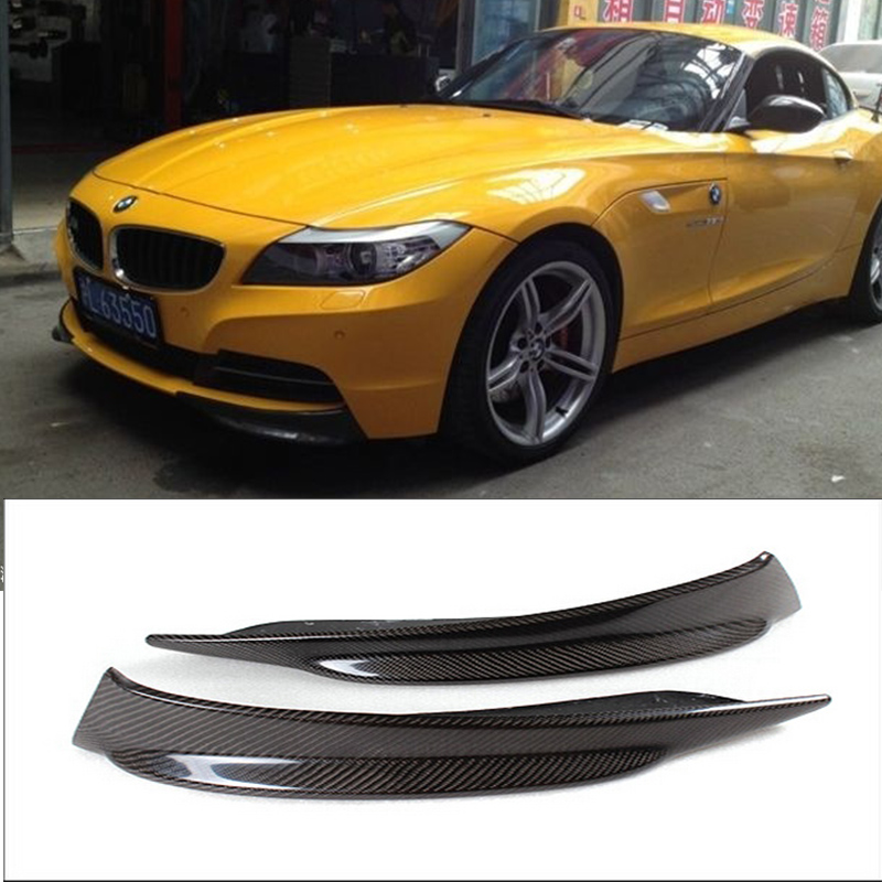 E89 Z4 ածխածնային մանրաթել Car-Styling Front Bumper Splitter Cover Trim for BMW Z4 E89 2009-2013