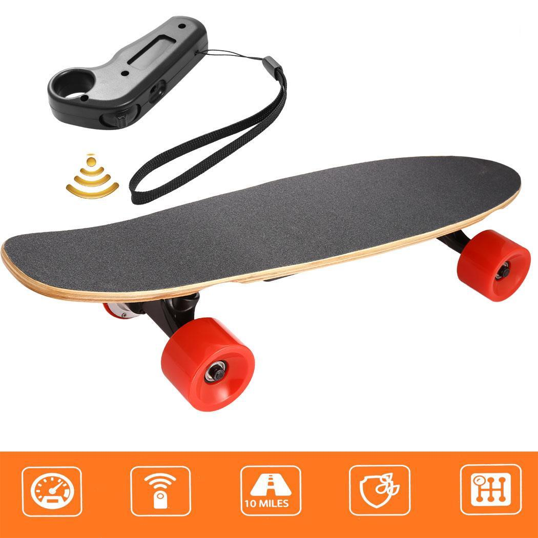 Electric Skateboard Penny Board with Remote Controller Age 8 3 9kg 14m 2 4Ghz US Plug 1 5 Hour AC110 240V 10km 20km h kao 0 9kg