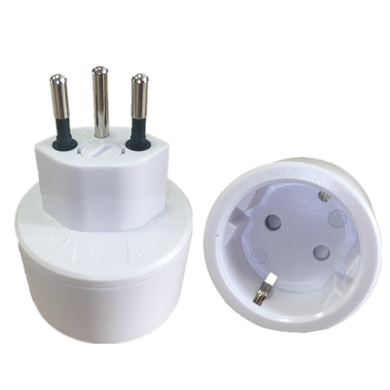 EU DE Germany socket 3 pin Swiss plugs adaptor Embedded Swiss adapter converter plug Swiss plugs turn to French plugs-in International Plug Adaptor from Consumer Electronics