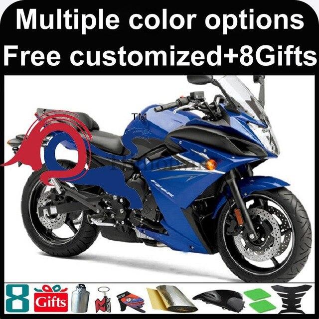 8Gifts+blue bodywork motorcycle cowl for Yamaha FZ6 FZ6R 2009 2010 ...