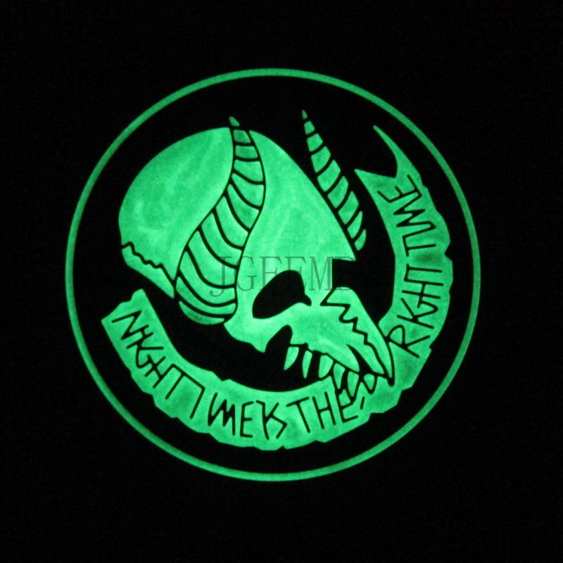 US $5 53 15% OFF|Luminous Jormungand Seal Team 9 Morale Military Embroidery  patch Badges PB889-in Patches from Home & Garden on Aliexpress com |