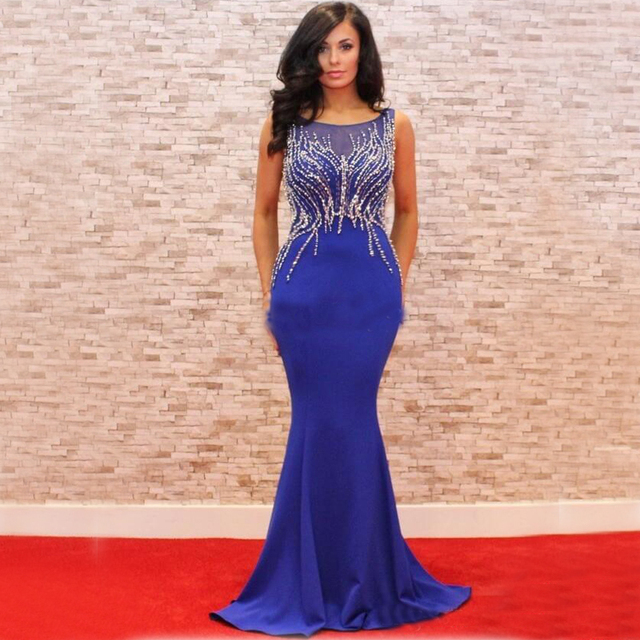 Sexy Red Carpet Celebrity Dresses For Womens 2017 Elegant Beaded