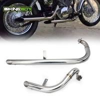 BIKINGBOY For Yamaha XV 250 XV250 Virago V star 1988 2013 88 13 Full Sets Muffler Exhaust System Pipes +Silencers