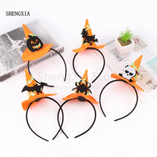 Halloween Witch Headband Decorations Festival Party Atmosphere Performance Props Pumpkin Hat Headdress Wholesale