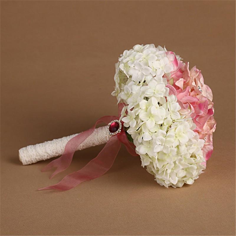 New Artificial Wedding Bouquets Crystal Bridal Bouquet Wedding Bouquet Wedding Flowers Bridal Bouquets Hydrangea Flower Bouquet (1)