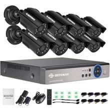 DEFEWAY 1080N 8CH HDMI DVR Vigilancia 1200TVL 720 P HD Al Aire Libre Sistema de 8 Canales CCTV DVR de Cámaras de seguridad Kit de Cámara AHD conjunto