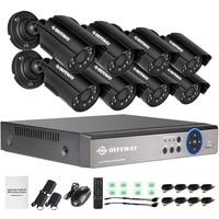 DEFEWAY 8CH 1080N HDMI DVR 1200TVL 720 마력 HD 야외 감시 보안 카메라 시스템 8 채널 CCTV DVR 키트 달리 카메라 세트