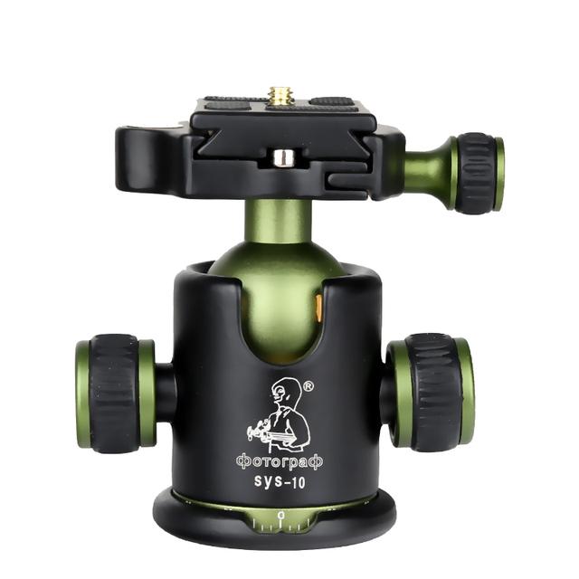 """DPOTORPADP SYS10 Alumínio 360 Cabeças Panorâmicas Tripé de Câmera Bola Cabeça Com Placa de Liberação Rápida 3/8 """"parafuso de Montagem de Carga Máxima 10 KG"""