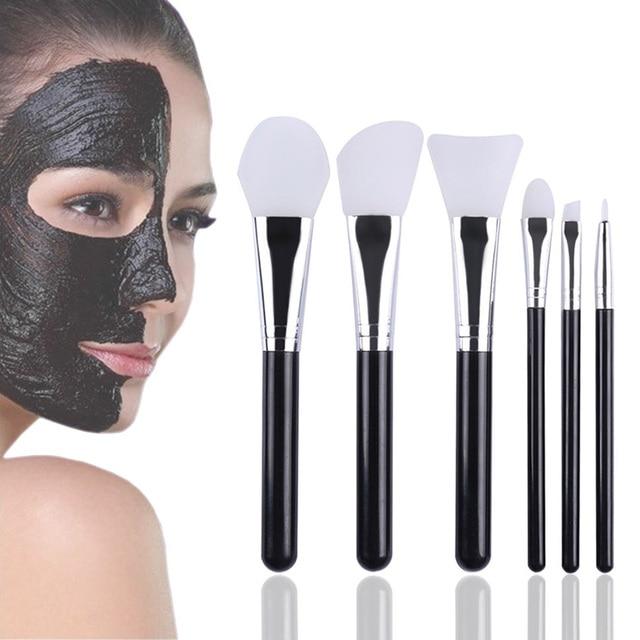 6 Stücke Silikon Kopf Make Up Pinsel Set Gesichtsmaske Pinsel Augen