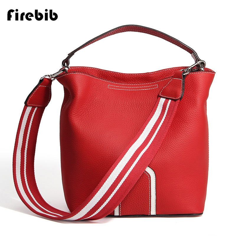 FireBib Real Cow Leather Ladies HandBags Women Genuine Leather bags Totes Messenger Bags Hign Quality Designer Luxury Brand Bag цены