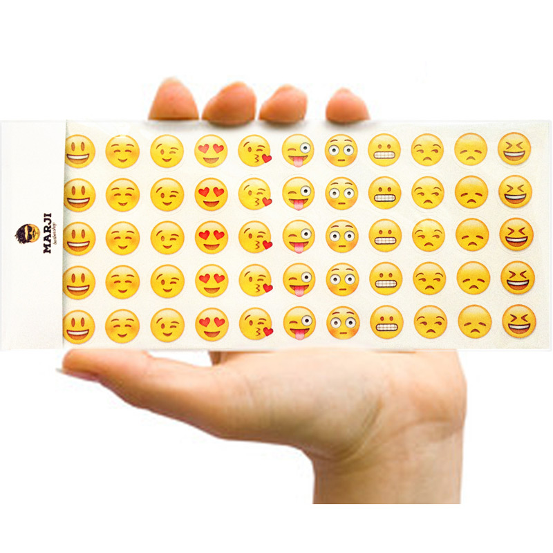 12Pcs/Pack Kawaii Sticker Emoji Smile Face DIY Scrapbooking Diary Planner Decorations Notebook Notes Memo Pad Sticker Stationery