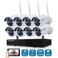 Home Security Camera CCTV System Wireless DVR 8CH IP CCTV Kit HD 1080P IR Night Vision 2.0MP Video Surveillance Wifi Kit