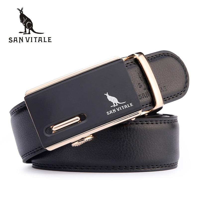 Ceinture 2017 nouvelle arrivée hommes automatique boucle marque designer en cuir ceintures pour hommes d'affaires qui de haute qualité et de luxe pour homme