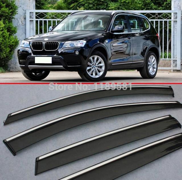 Para BMW X3 2011-2015 a Janela Do Vento Defletor Visor Chuva/Sun Guard Ventilação