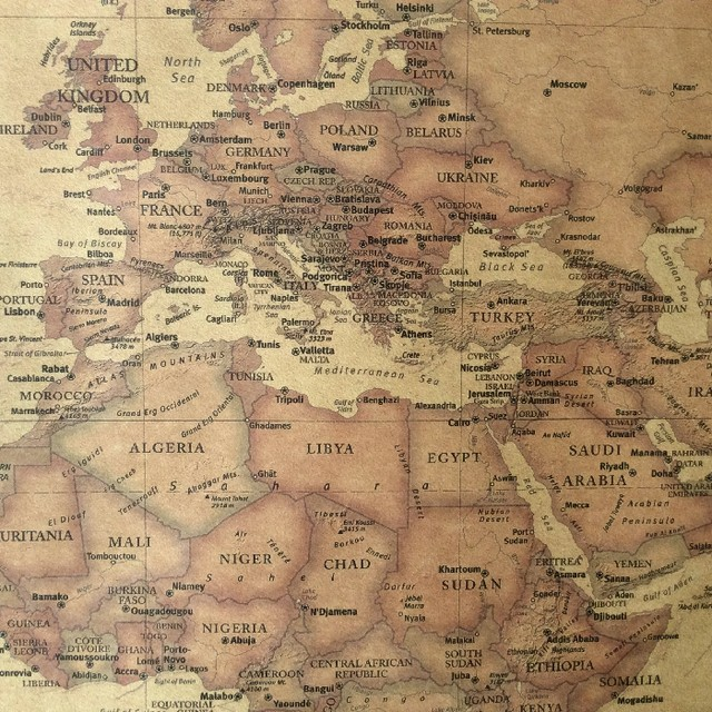 Large huge laminated world map poster wall chart flags educational online shop choose size the old world map huge large vintage huge map poster gumiabroncs Gallery