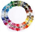 100pcs Cotton Cross Floss Stitch Thread Embroidery Sewing Skeins Multi Colors