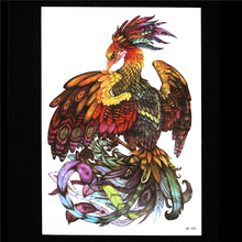 Waterproof Temporary Tattoo 1pc Beauty Colorful Phoenix Decal Sticker HB590 Fake Water Transfer Body Art Tattoo For Women Men 3D