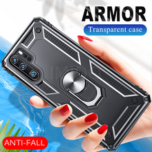 Luxury Armor Shockproof Case On The For Huawei P30 Pro P Smart 2019 Soft Bumper Honor 10 Lite Ring