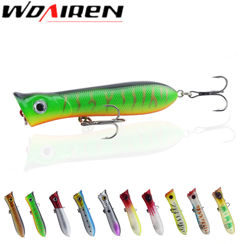 1pcs 8cm 11.6g Popper Fishing Lure isca artificial fishing bait Crankbait Wobblers 6# high carbon steel hook Fishing Lures 1pcs 8cm 5g luminous simulation prawn soft shrimp floating shaped worn fake lure hook isca fishing lure artificial bait