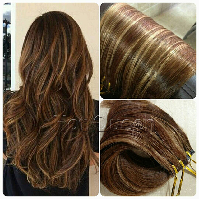 Hot Queen Balayage Hair Tape In Human Hair Extensions