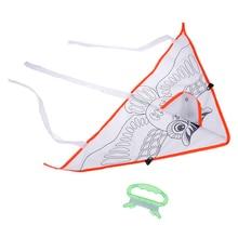 1 комплект красочный воздушный змей Летающий складной открытый пляжный воздушный змей Дети Спорт Забавные игрушки DIY живопись воздушный змей