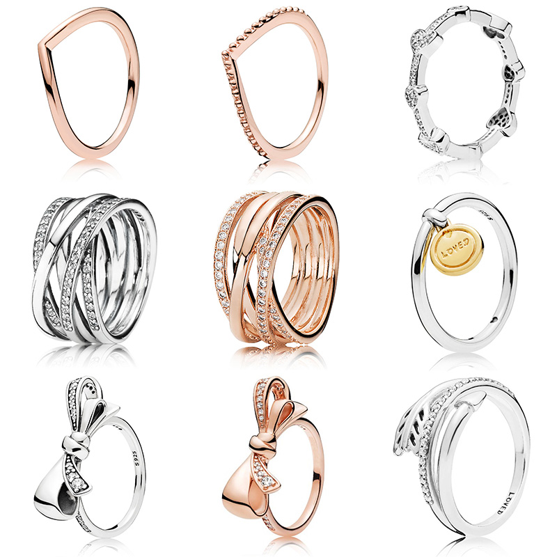 9 Style 1 Pcs Women Silver Color Rings Bow Arrow Of Love Crystal Opening Style Ring For Women Jewelry Gift