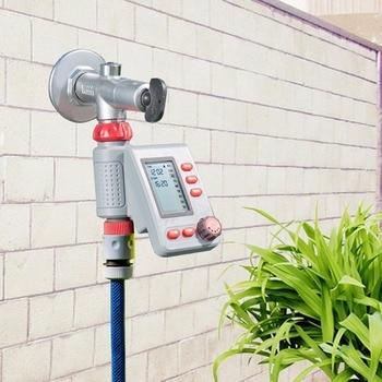 LCD Display Magneetventiel Irrigatie Timer Tuin Water Timer EU Standrad Home Controller Systeem En Regen Sensor # 21006R