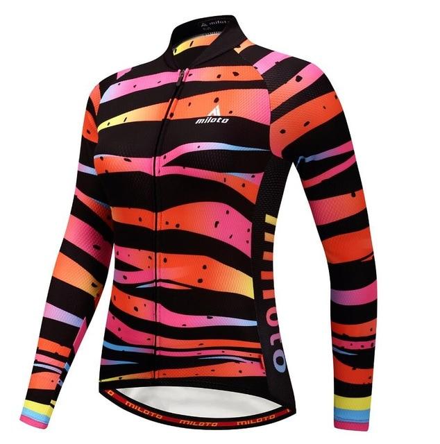 Dropwow MTB Bike Long Jersey Women s Cycling Clothing Clothes Girls ... 59db26b39