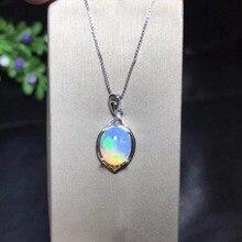 Collana Opale naturale, zona mineraria Australiana, cambiamento di colore e colorato, 925 argento