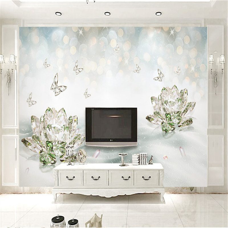 3D Stereoscopic Room Wallpapers Custom Photo Murals Walls Papers Luxurious Modern for Living Room Background Home Decor Flowers custom photo size wallpapers 3d murals for living room tv home decor walls papers nature landscape painting non woven wallpapers