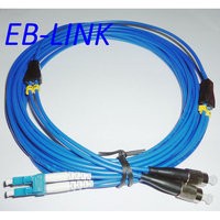 Indoor Armored 150Meters LC/PC FC/PC,3.0mm,Singlemode 9/125,Duplex, Optical Fiber Patch Cord Cable,LC to FC