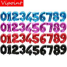VIPOINT PARTY 32inch pink blue red black number foil balloons wedding event christmas halloween festival birthday party HY-36