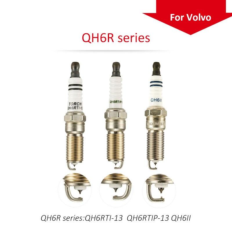 4 unids/lote original de China antorcha bujías QH6R serie Volvo S40 1,6; s60 2,0 T T3 T4 T5; S80 T4 T4F T5; XC60