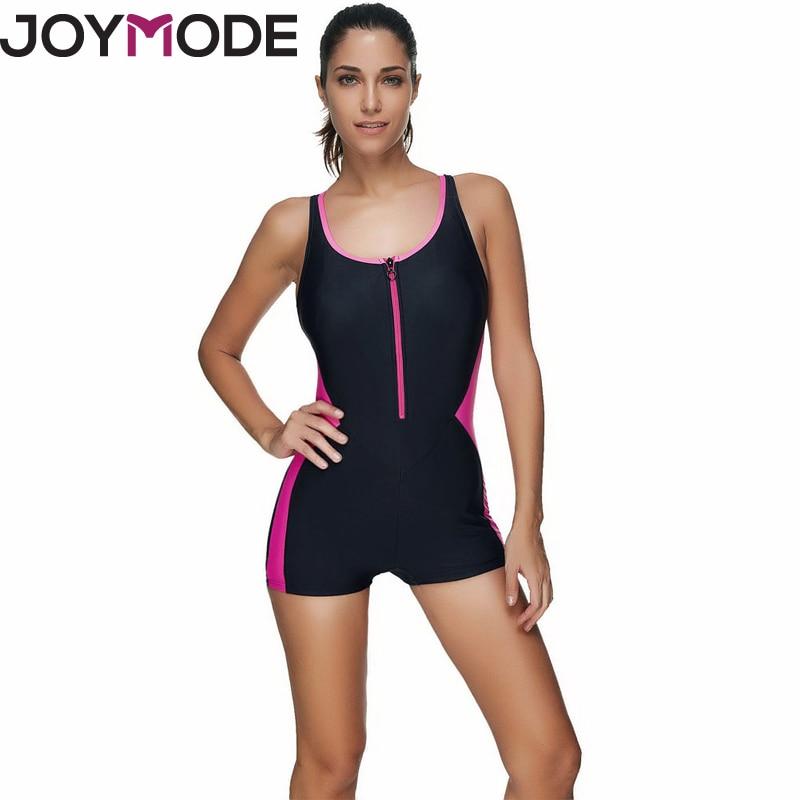 JOYMODE Sport Bikini Donna Biquini Femminile 2017 Nuovo Modello di Formazione Pantaloncini Costumi Da Bagno Nero Maglia Viola Costume Da Bagno One Piece-F