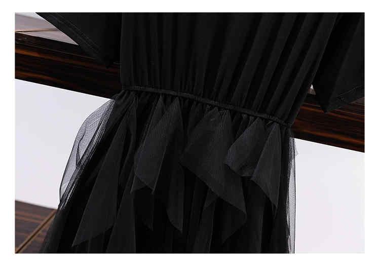2019 г. Осенняя Корейская принт пролитой пуловеры толстовки + тяжелая работа кружевная, с цветочным узором и ручкой Высокая талия тонкая подол стандартная юбка комплекты из 2 предметов